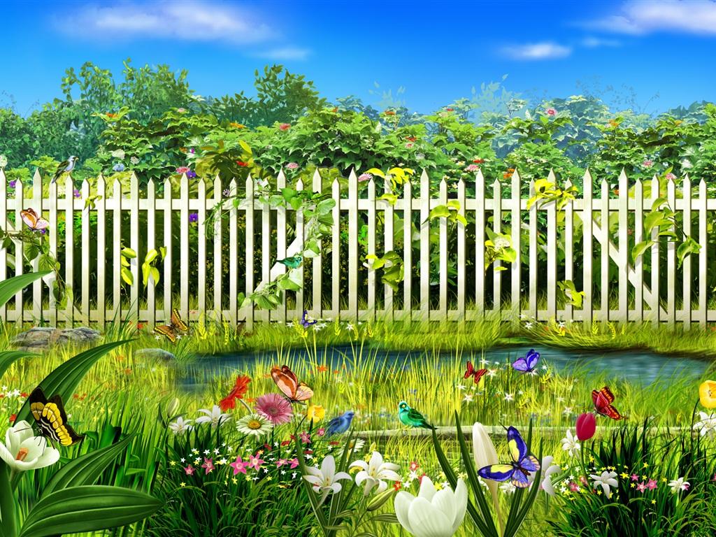 garden wallpaper 1024x768 - photo #26