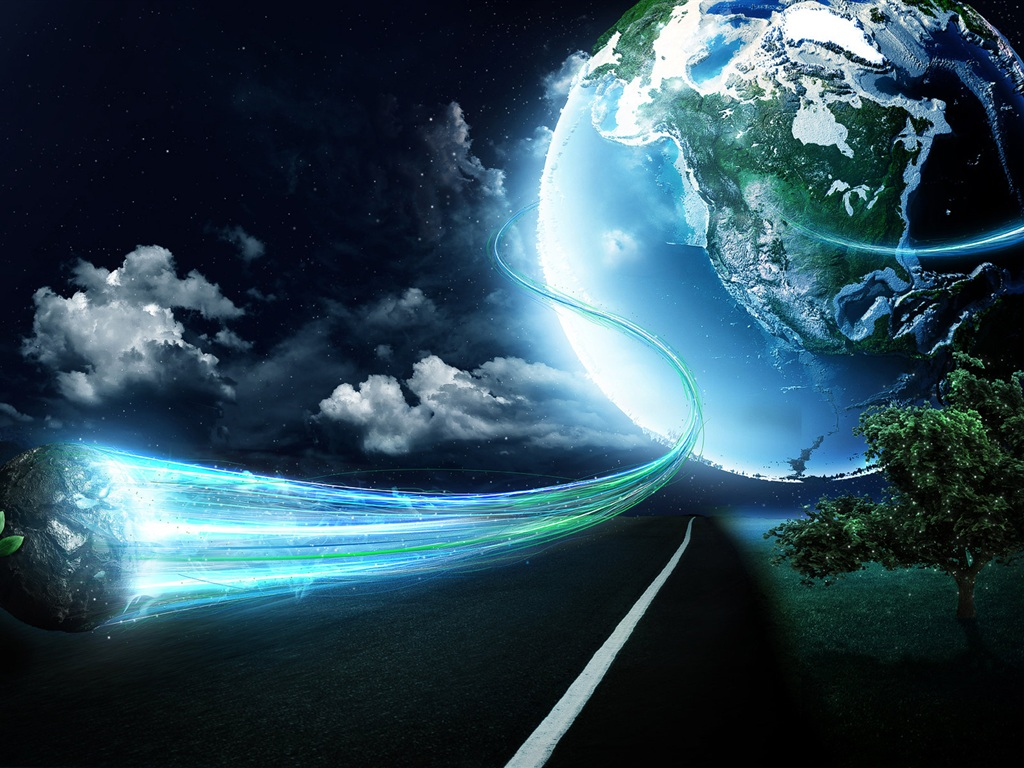 Download Wallpaper 1024x768 Magic Earth HD Background