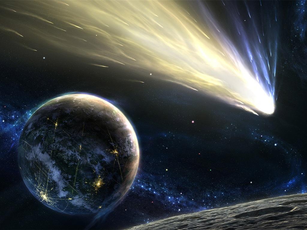 フライング彗星 壁紙 - 1024x768   フライング彗星 壁紙