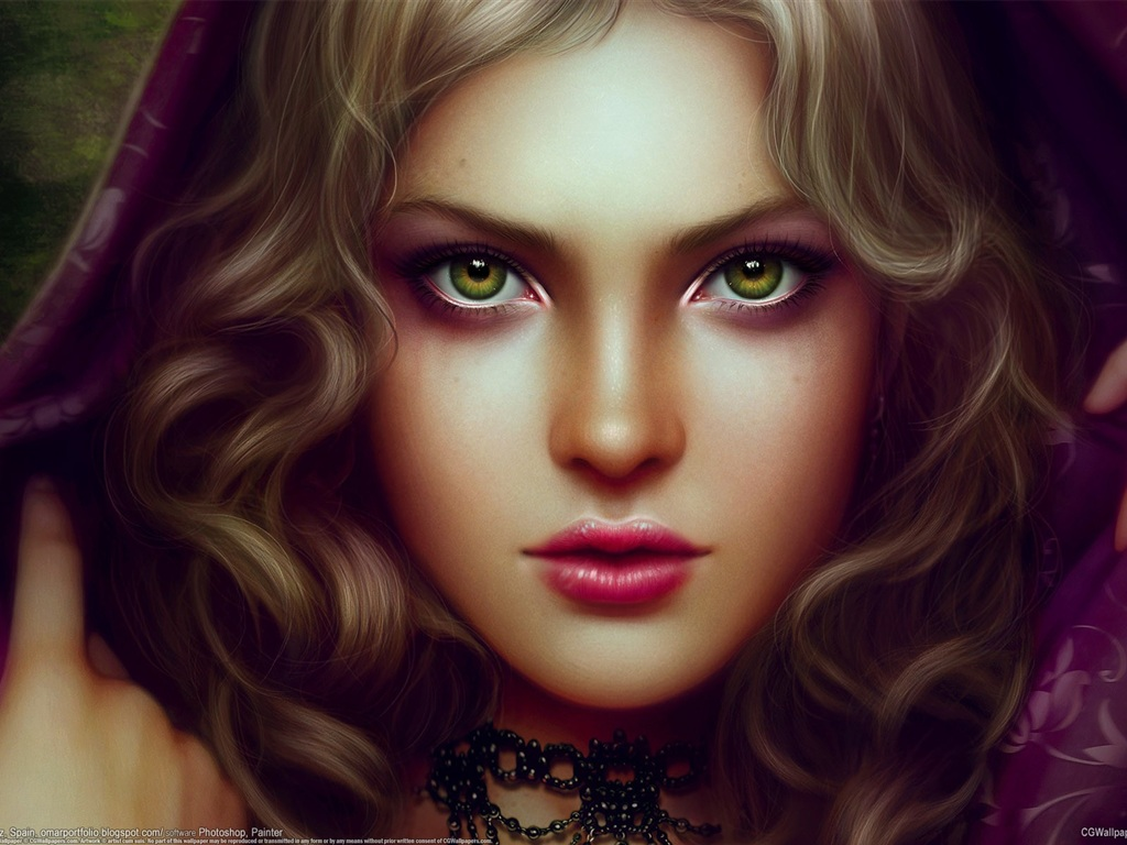 green eyed witch wallpaper - photo #3