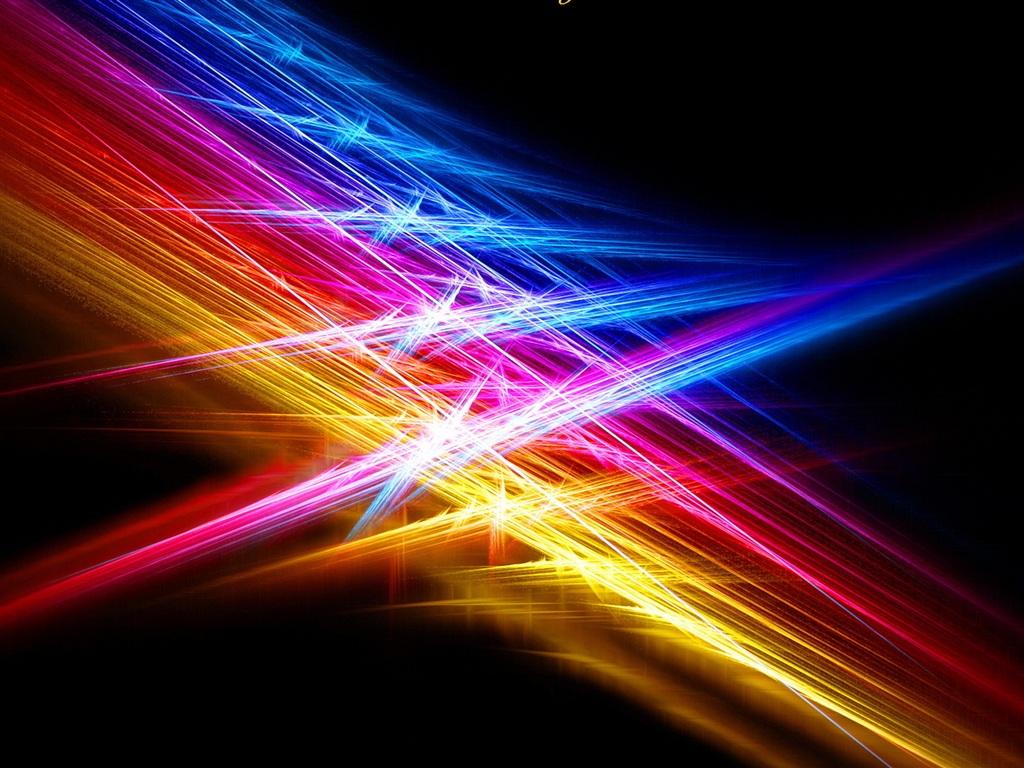 Download Wallpaper 1024x768 Line Color Light Beams Hd