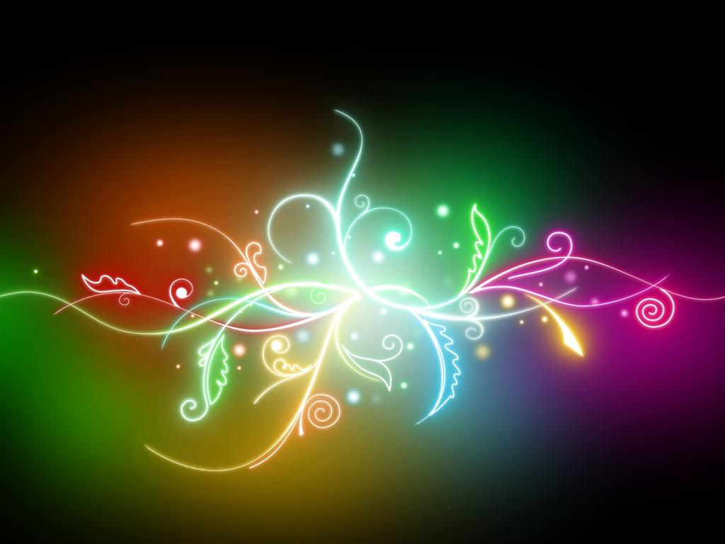 Luces de colores hojas fondos de pantalla 1024x768 for Luces de colores