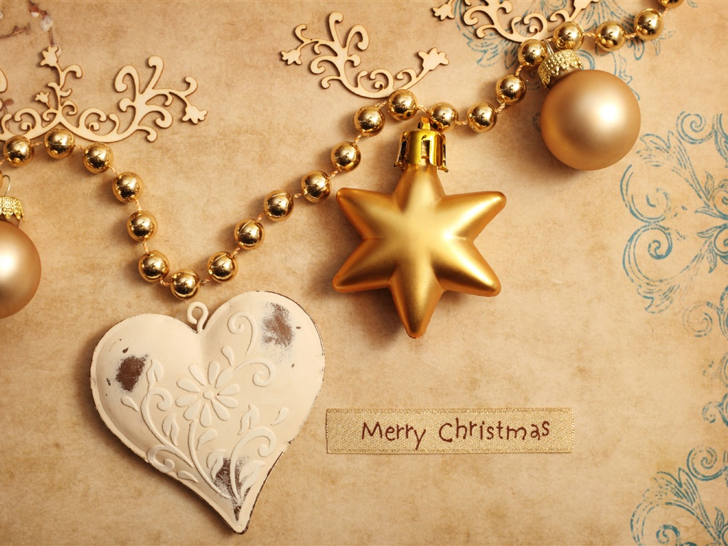 Christmas ornaments wallpaper - 1024x768