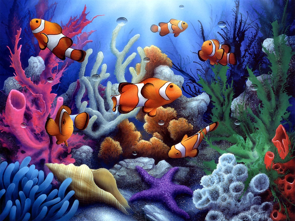 Wallpaper download colorful underwater coral and fish wallpaper
