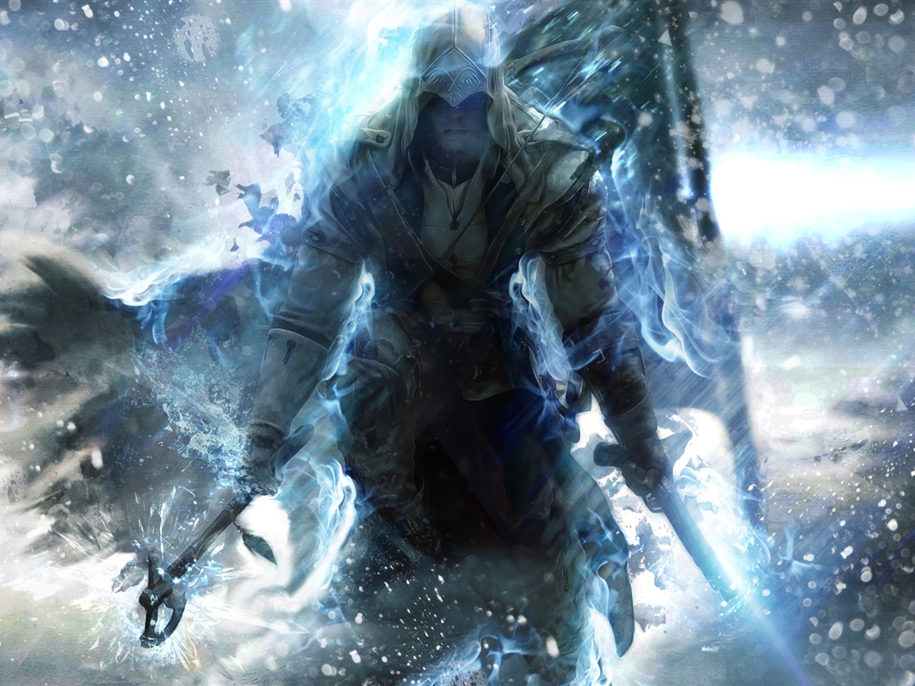 Wallpaper Assassin S Creed 3 Blue Style 1920x1200 Hd Picture Image