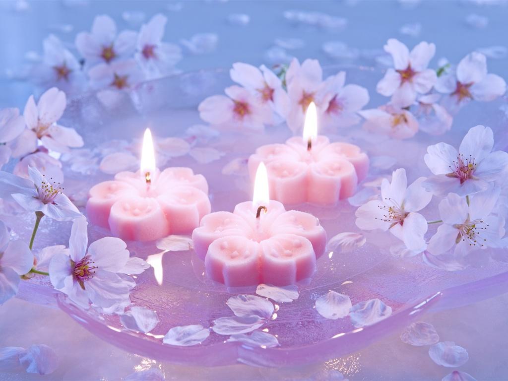 Картинки со свечами и цветами 4