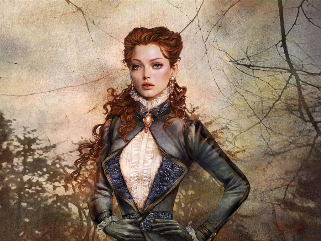 Fonds d 39 cran t l charger 1024x768 portrait fantasy girl for Fond ecran portrait