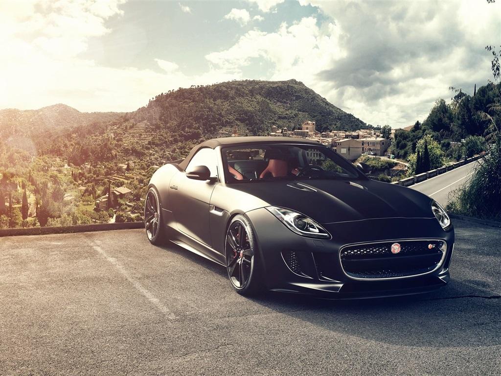 Jaguar F Type V21 S black car front view 21x21 iPhone 21/21S/21C/SE ...