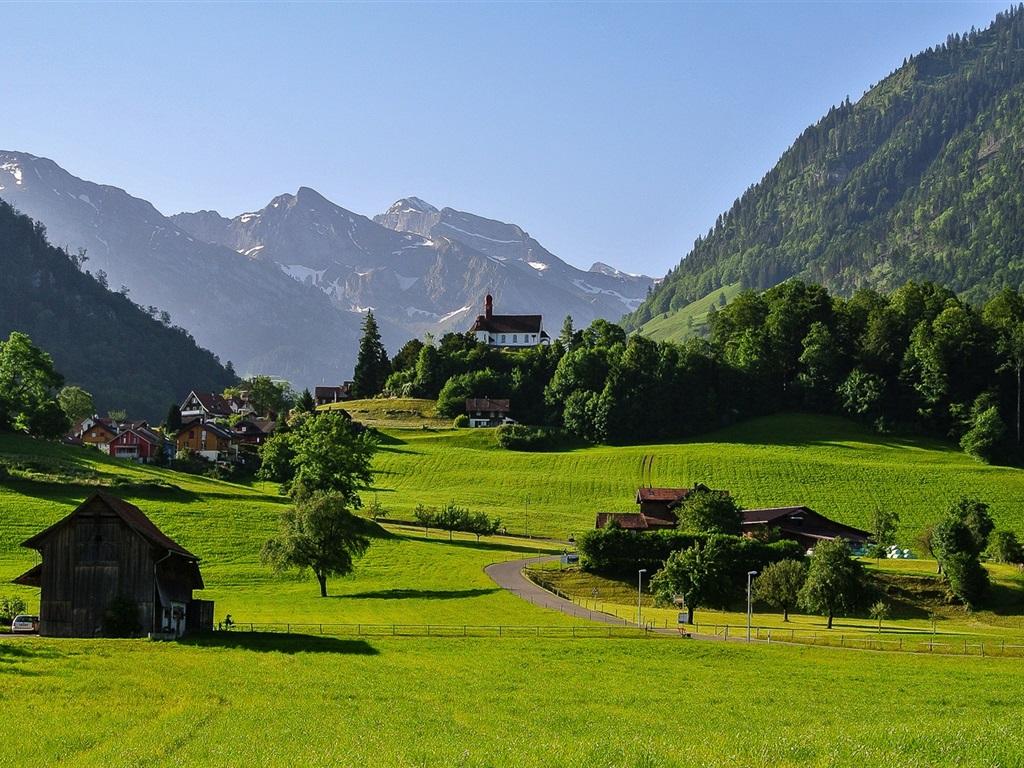 fonds d 39 cran t l charger 1024x768 suisse montagnes alpes la vall e de l 39 herbe de la route. Black Bedroom Furniture Sets. Home Design Ideas