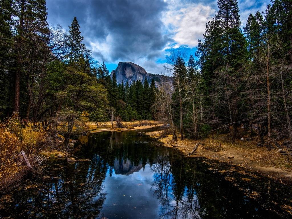 Berg, Fluss, Bäume, Herbst Hintergrundbilder | 1024x768 ...