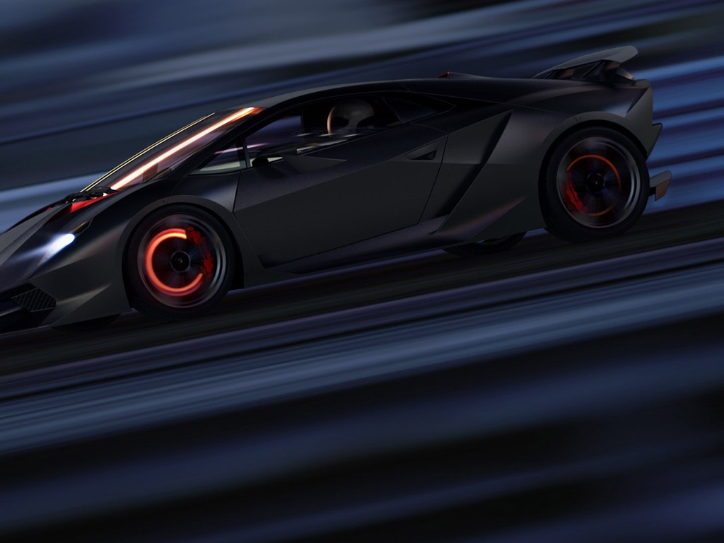 Fonds d'écran Lamborghini Sesto Elemento vitesse de ...