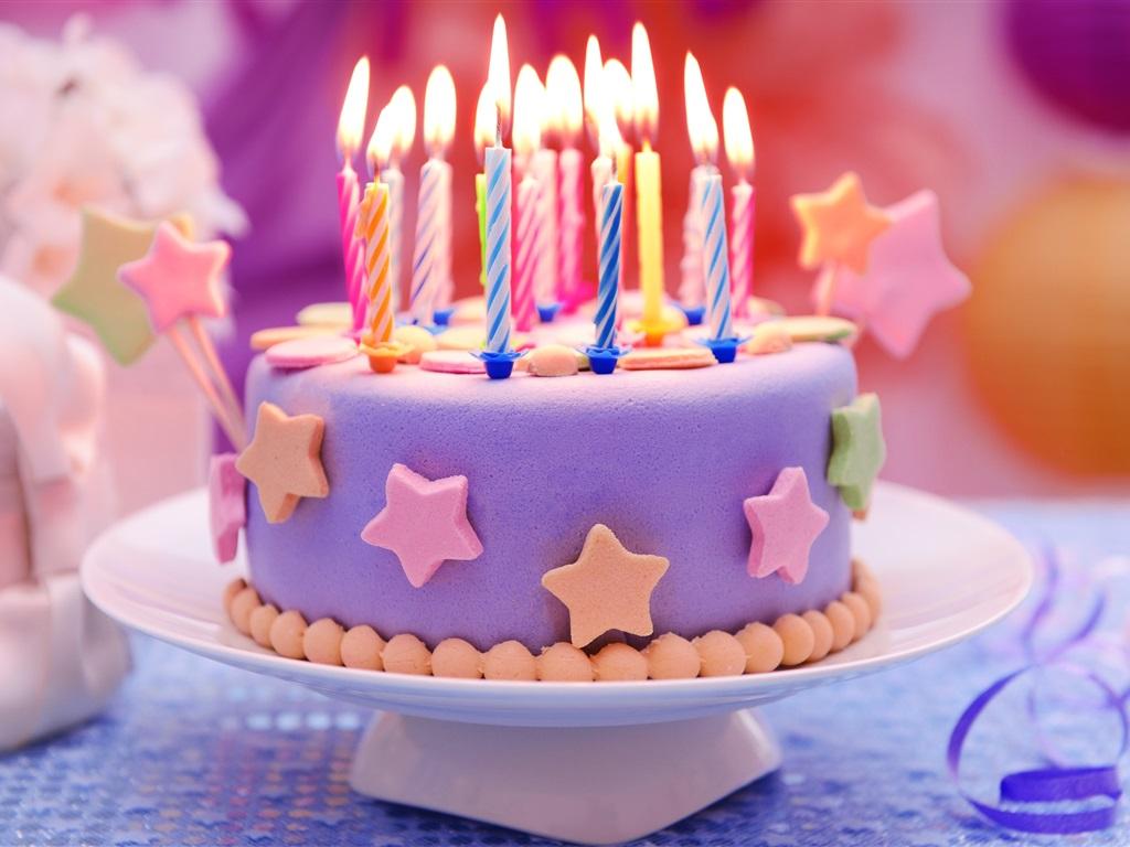happy birthday cake candles stars