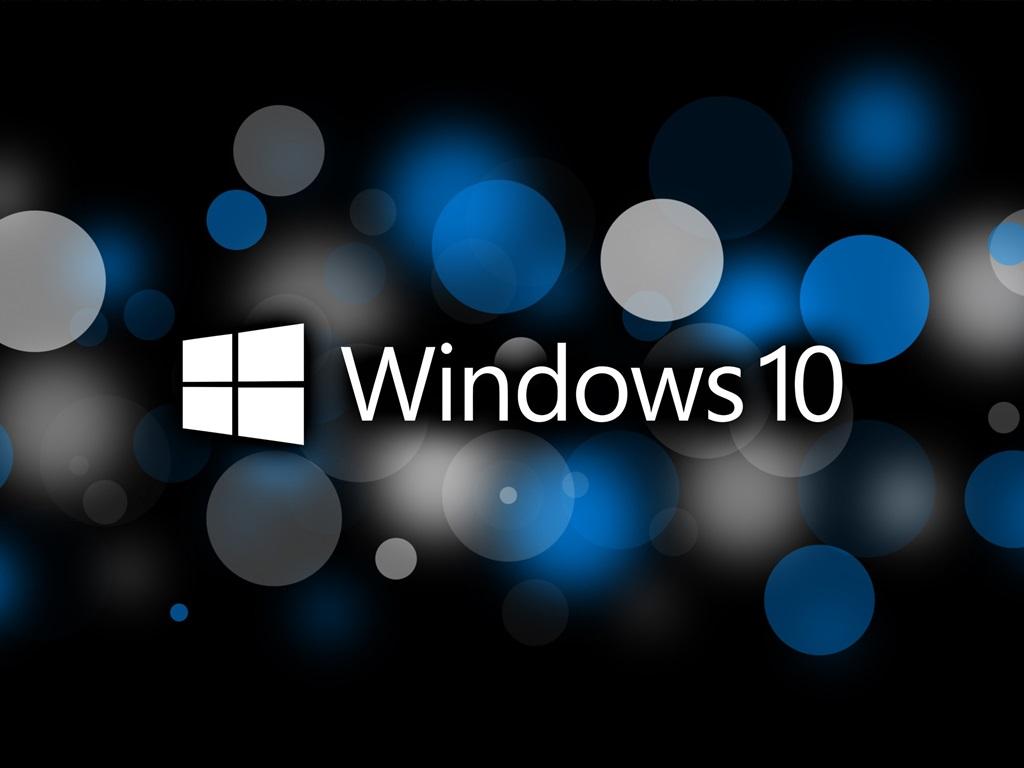 壁紙 マイクロソフトのwindows10システムのロゴ サークル 創造的な