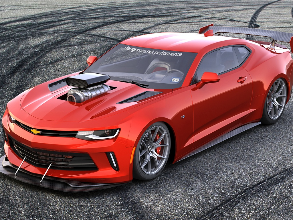 Chevrolet Camaro rendering red sports car Wallpaper ...