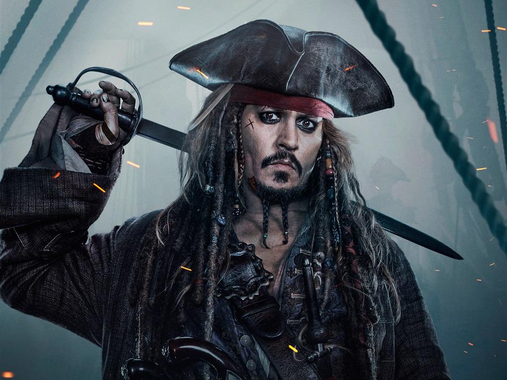 배경 화면 조니 뎁, 캐리비안의 해적: 죽은 자는 말이 없다 2880x1800 HD 그림, 이미지