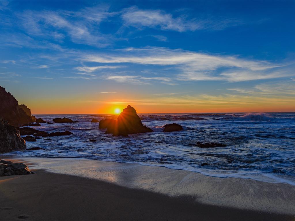Sea Rocks Beach Waves Sunset 1242x2688 Iphone Xs Max