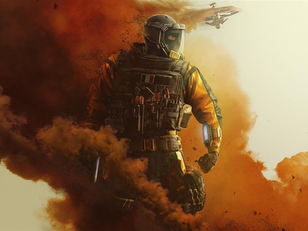 Wallpaper Rainbow Six Siege Soldier Smoke Fighter