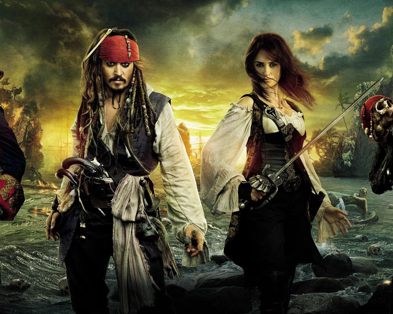 Wallpaper Pirates Of The Caribbean On Stranger Tides Hd 1920x1080