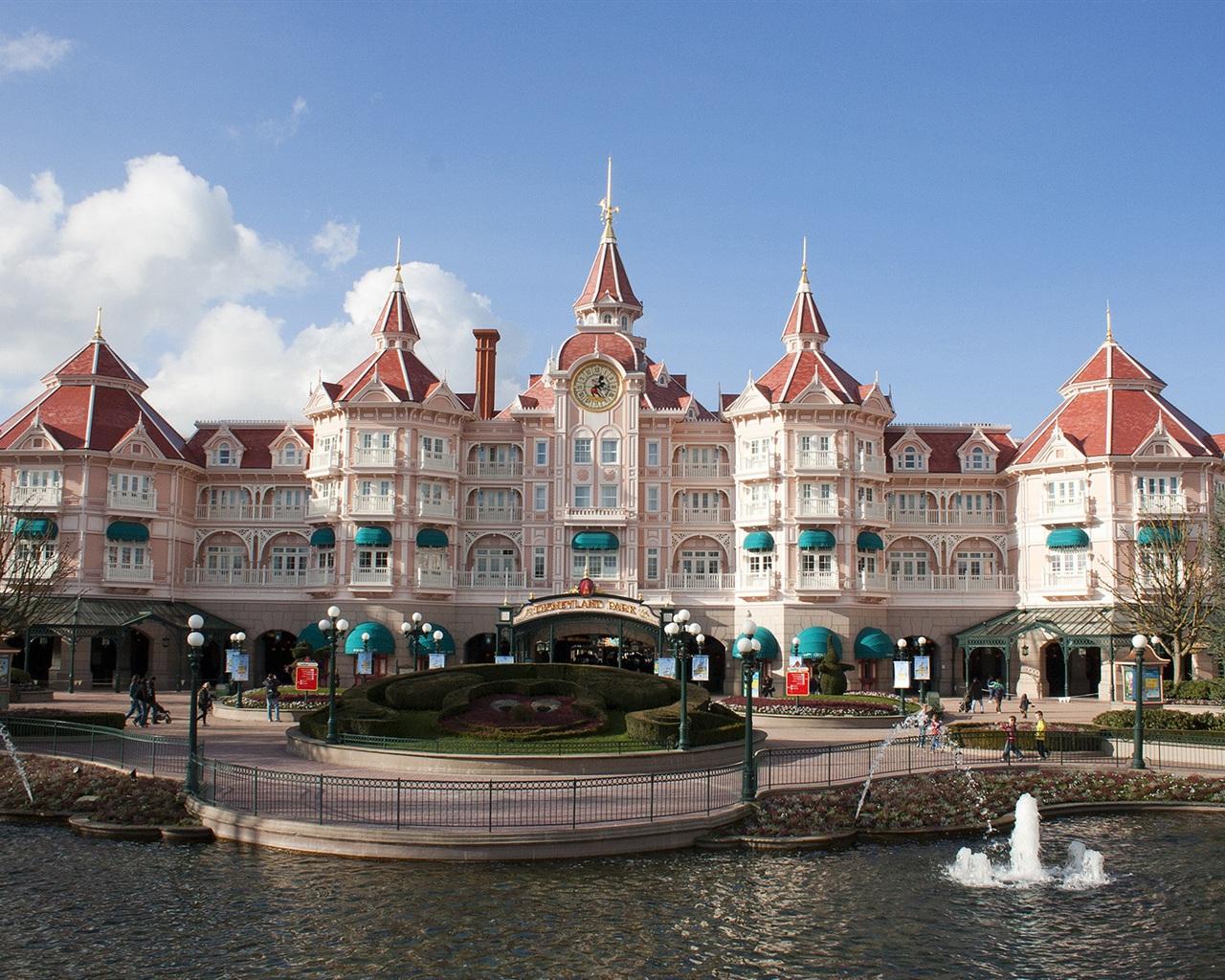 Disneyland paris hôtel château fonds d écran 1280x1024