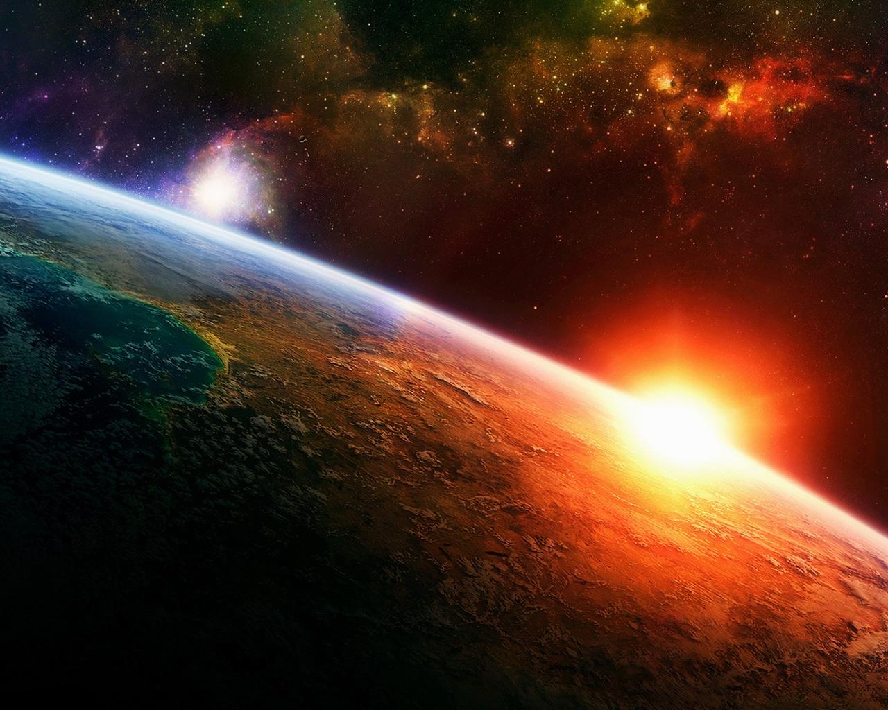 Sonnenaufgang Der Erde Im Weltraum 1920x1200 Hd