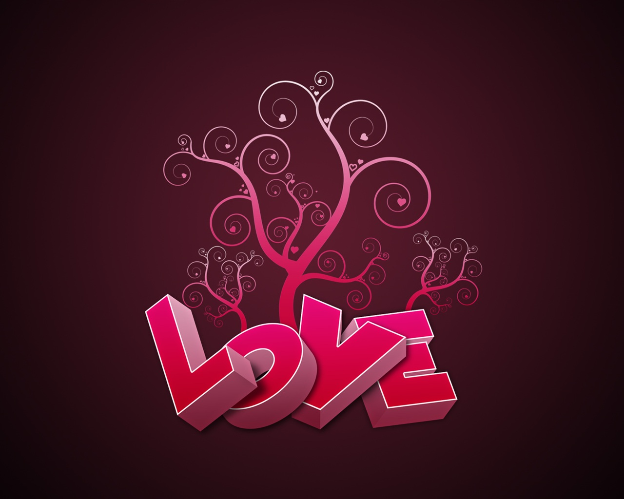 Love Wallpaper Pick : Download Wallpaper 1280x1024 3D pink Love HD Background