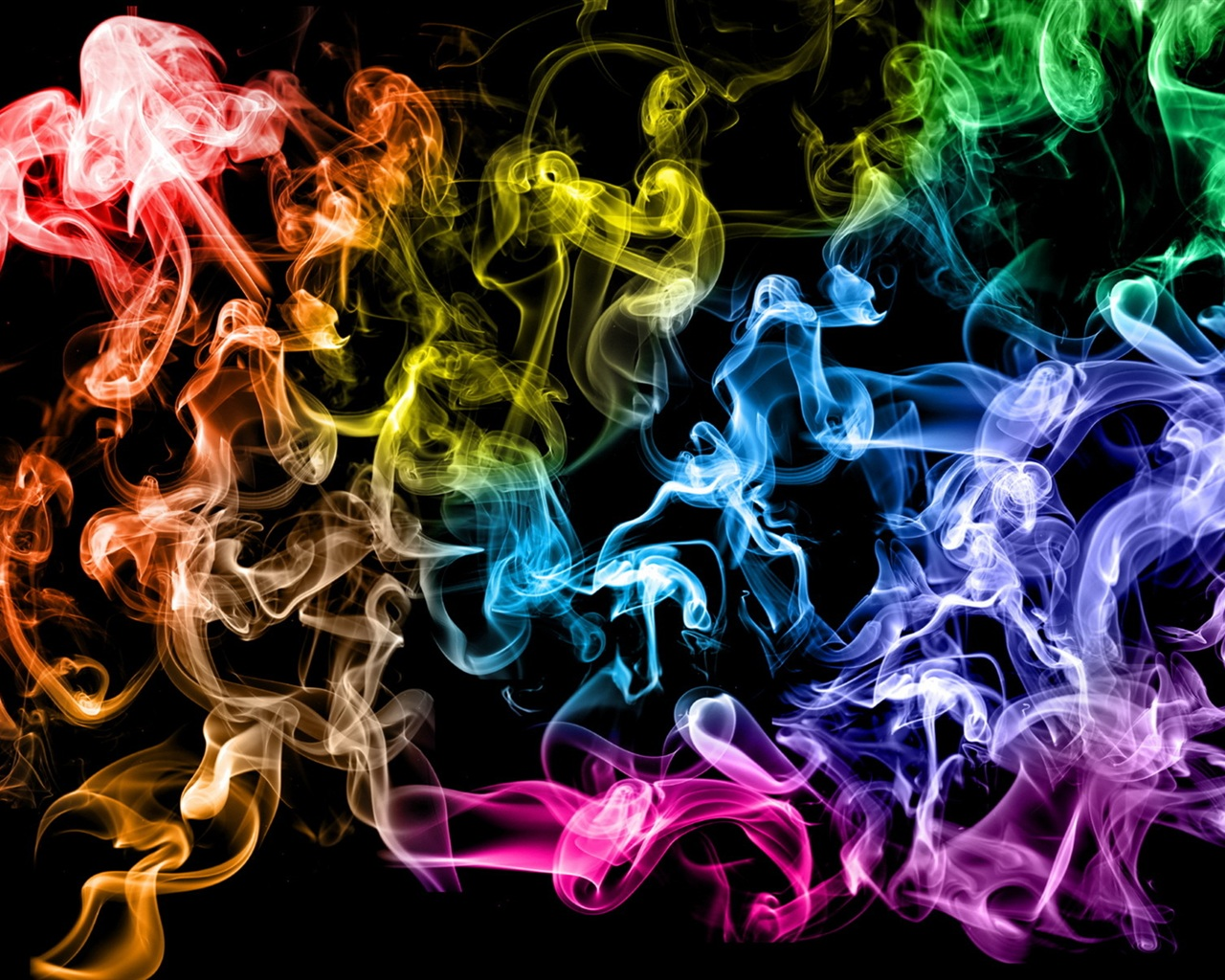 Colored smoke rings wallpaper - 1280x1024