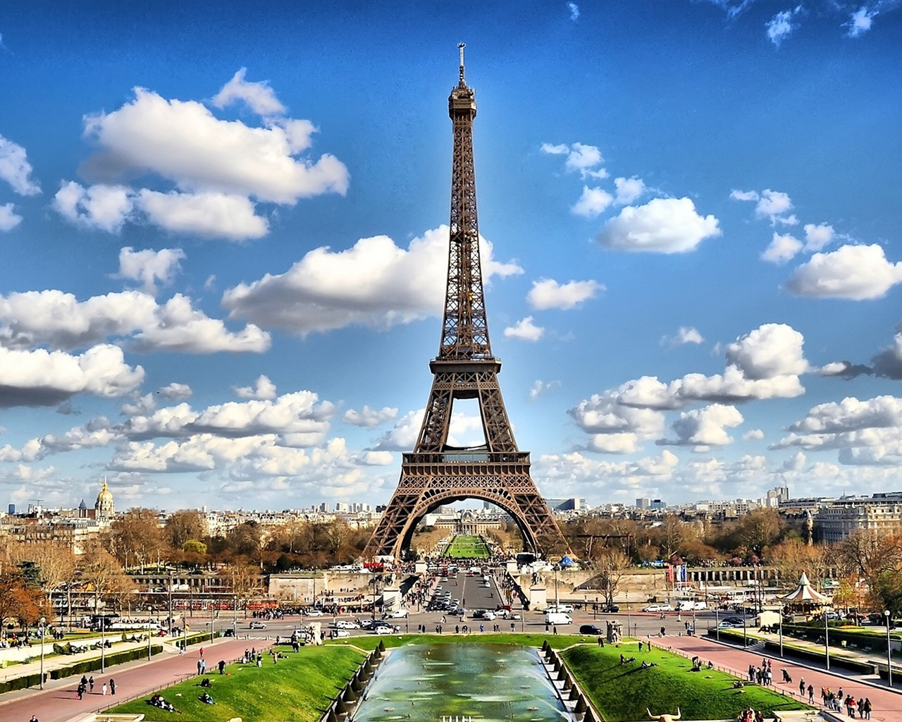 Torre eiffel de parís fondos de pantalla - 1280x1024