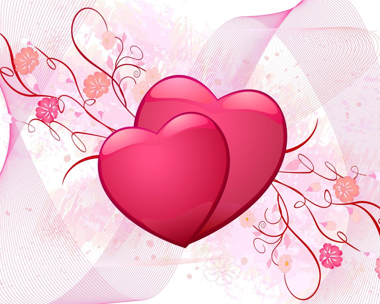 Любовь розовое сердце любовь обои