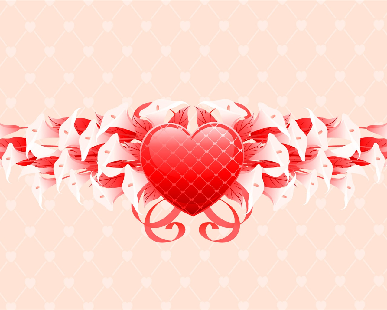 Saint Valentine's Day flowers gifts wallpaper - 1280x1024