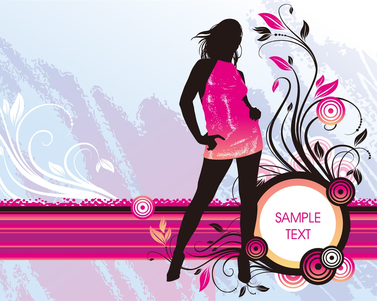 Wallpaper Vector Girl Fashion 1920x1200 HD Picture Image