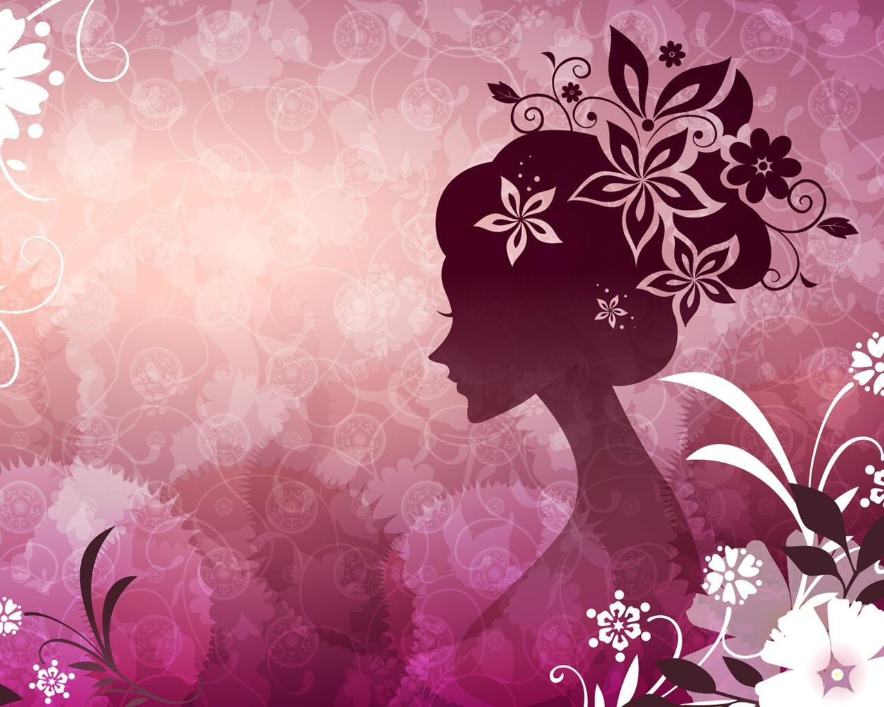 Fondos De Pantalla Rosa: Fondos De Pantalla Vector De La Mujer Con El Tema De