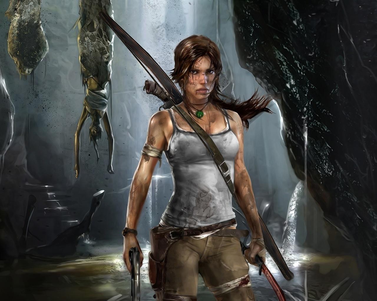 Wallpaper Lara Croft In Tomb Raider 9 Wide 1920x1080 Full Hd