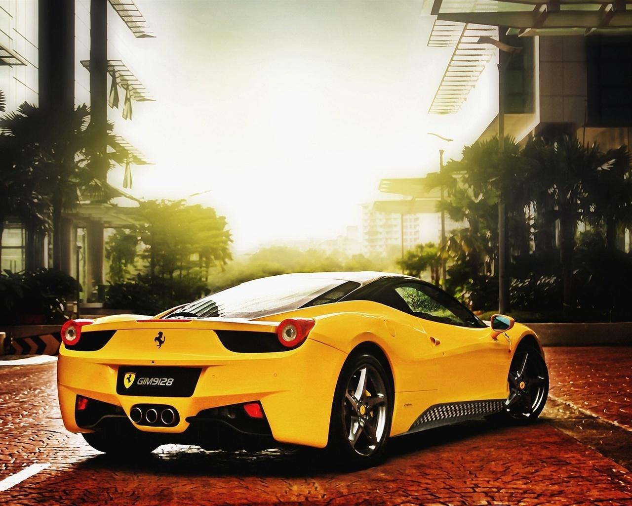 Wallpaper Ferrari Cars Of Yellow Color 1680x1050 Hd Picture