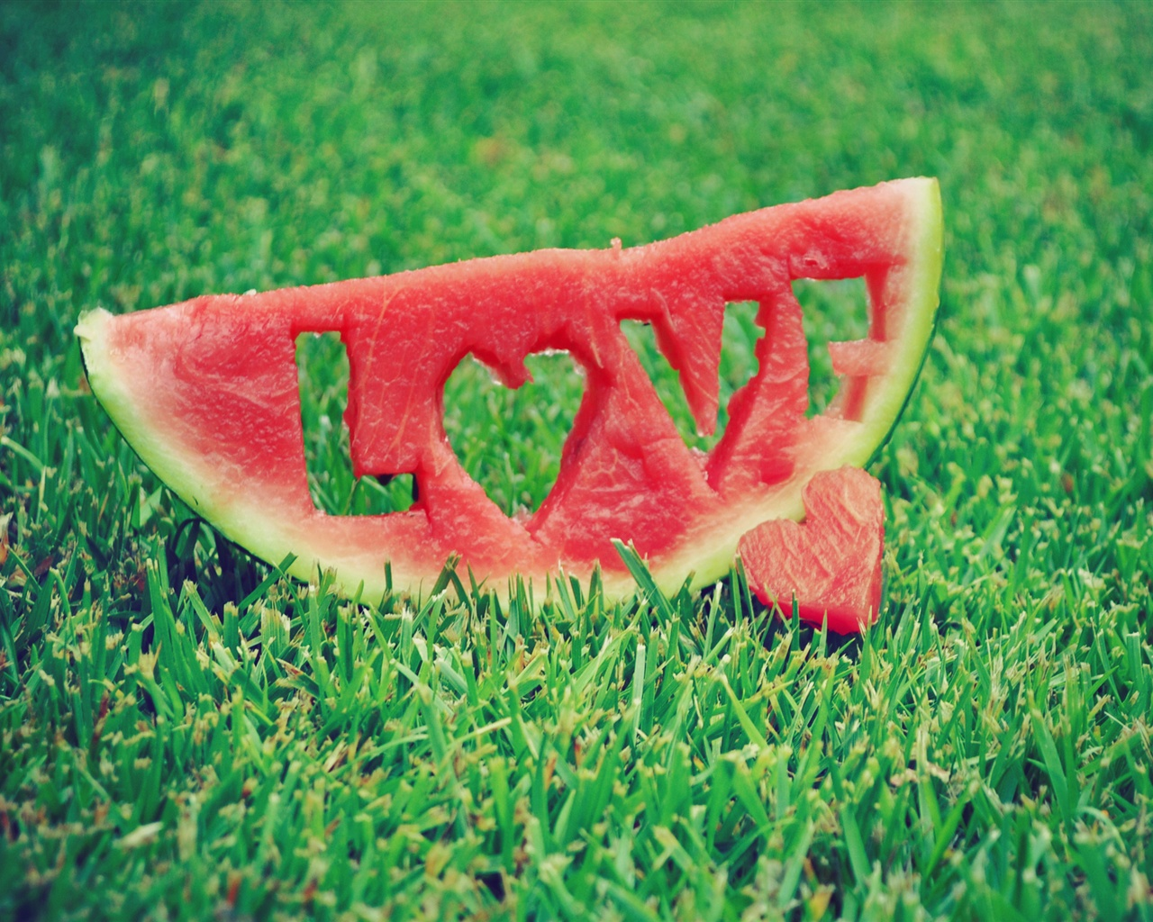 Watermelon Love Grass wallpaper - 1280x1024