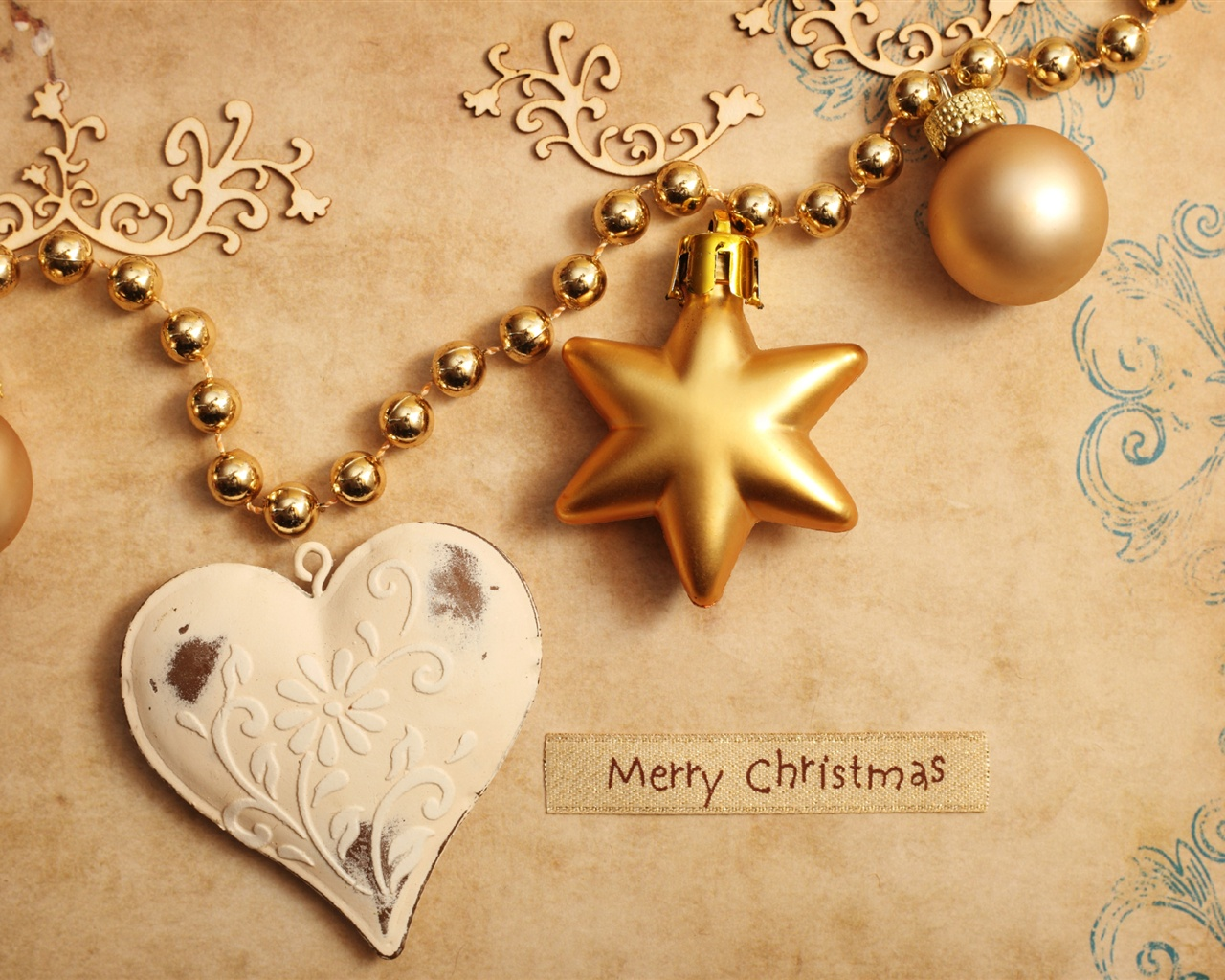 Christmas ornaments wallpaper - 1280x1024
