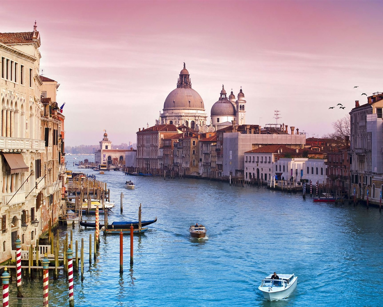 ヴェネツィアイタリア運河の水の都の建物 壁紙 - 1280x1024   ヴェネツィアイタリア運