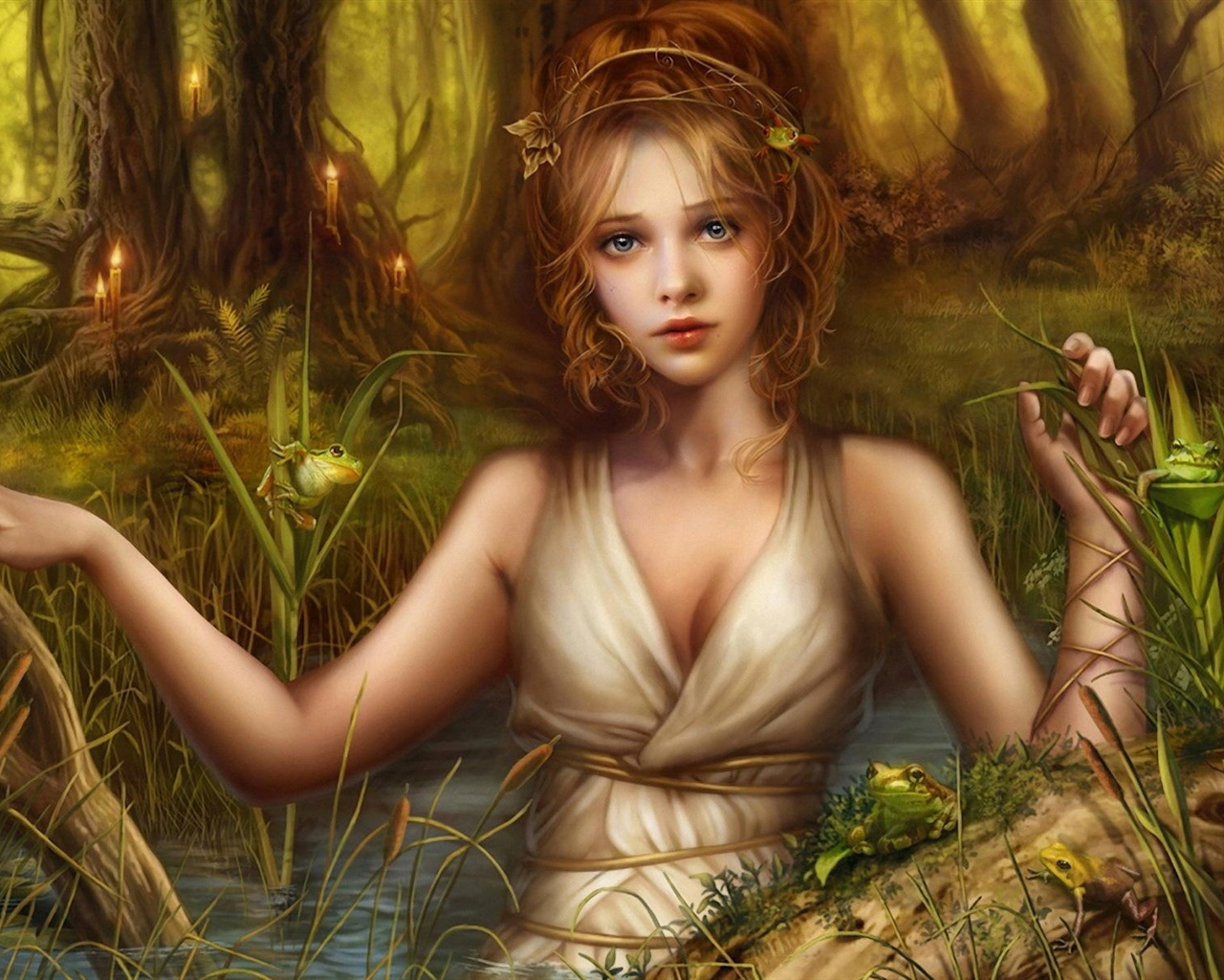 Beautiful blond fantasy girl wallpaper - 1280x1024