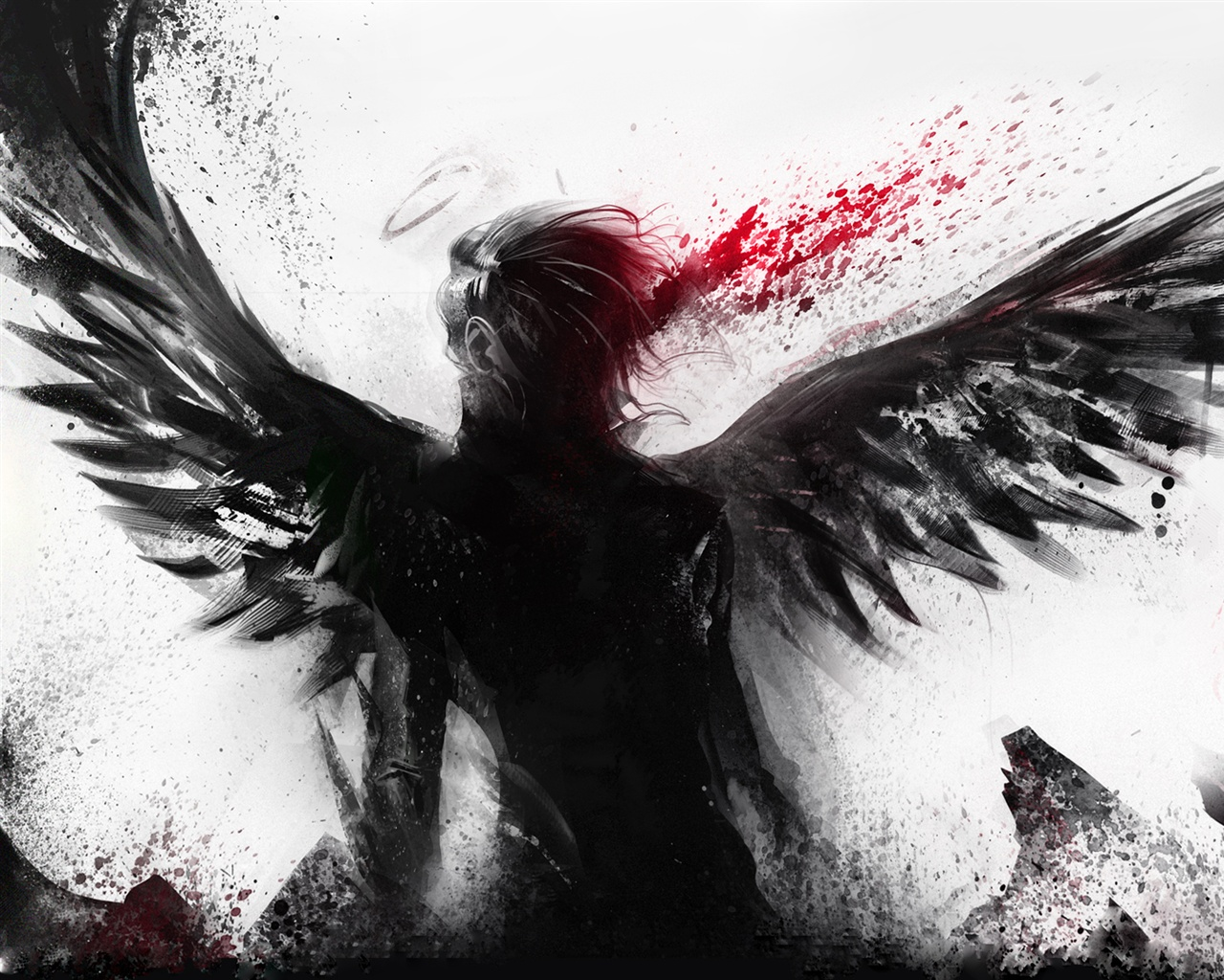 wallpaper bleeding of the black angel 1920x1200 hd picture