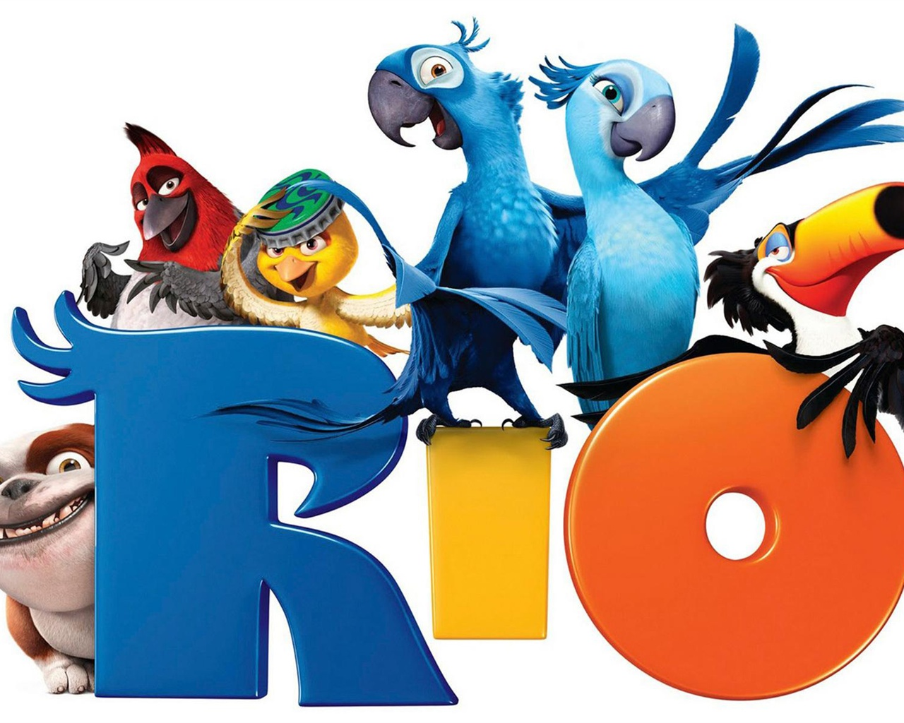 Rio Cartoon Movie Wallpaper 1280x1024 Resolution