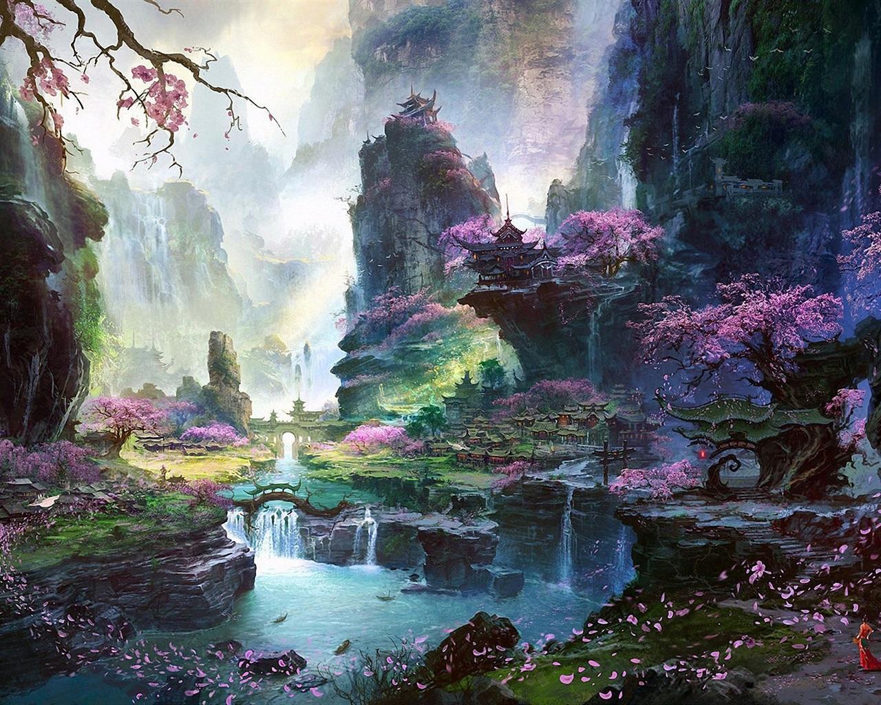 ... , los paisajes orientales de primavera Fondos de pantalla - 1280x1024