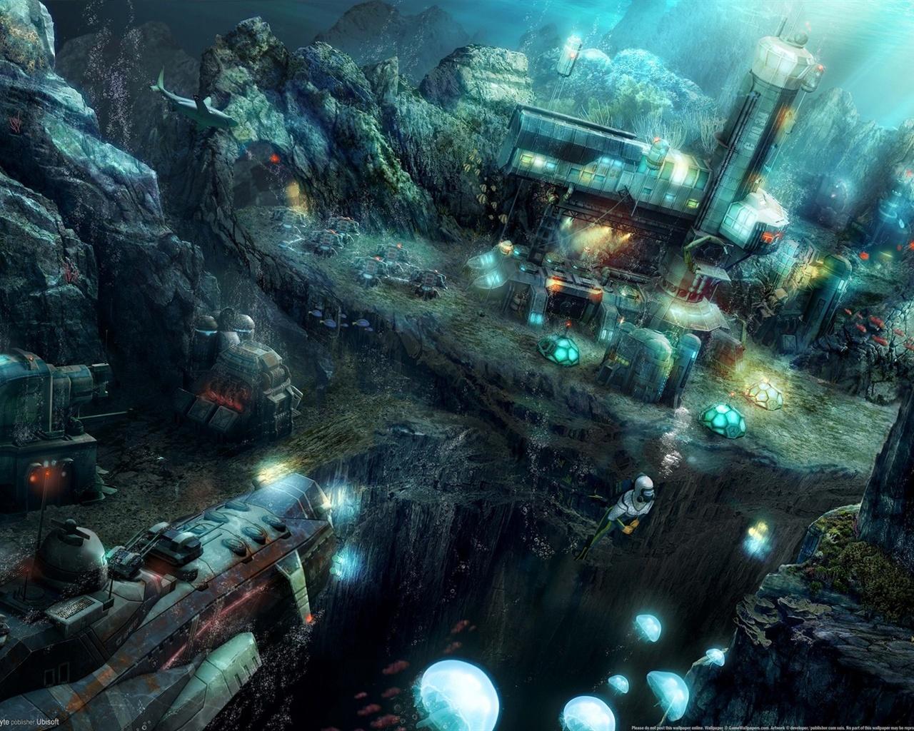 纪元2070:深海 壁纸 - 1280x1024