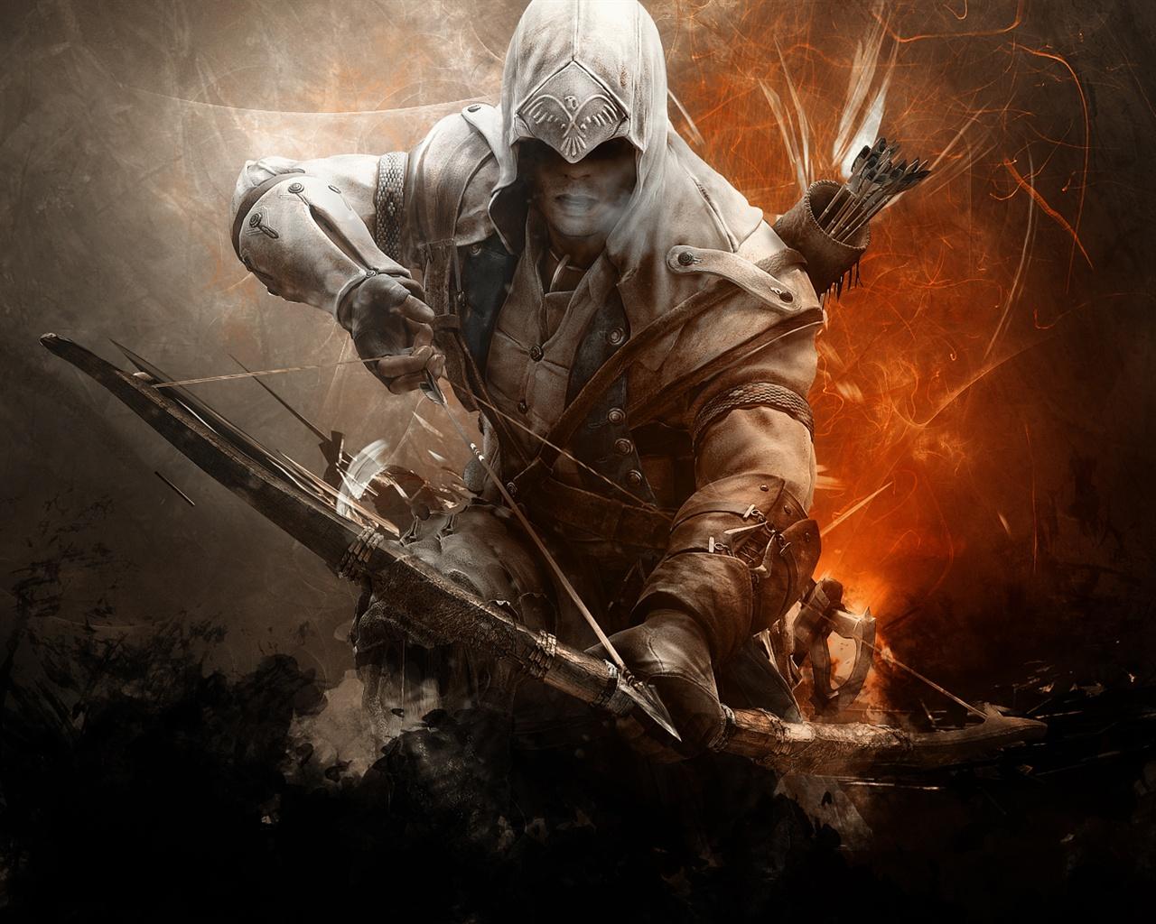 assassin u0026 39 s creed 3  archer wallpaper