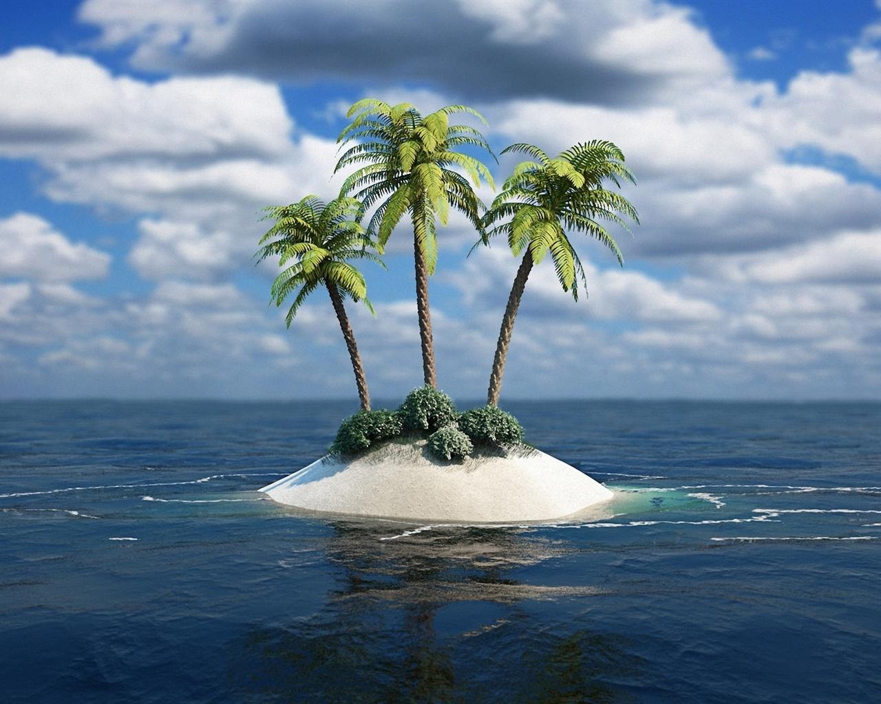 обои на рабочий стол 1600 на 900 острова № 247916 бесплатно