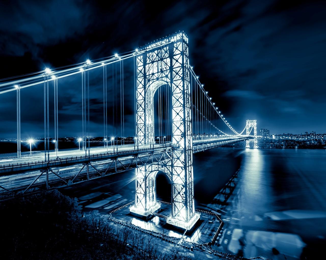 Wallpaper George Washington Bridge New Jersey Manhattan