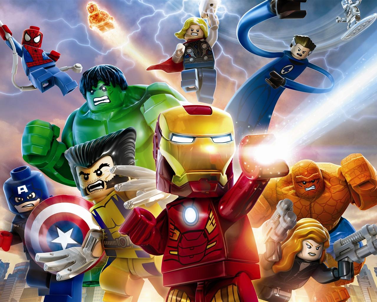 乐高marvel超级英雄 壁纸 - 1280x1024
