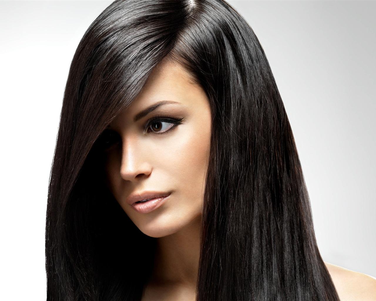 Wallpaper Long Black Hair Girl, Beautiful Face 2560X1600 -1764