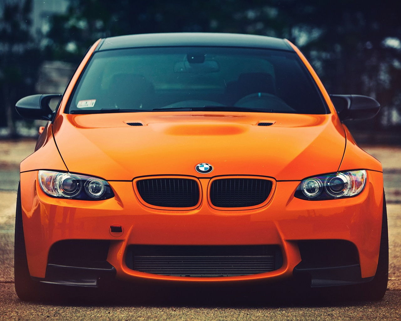 Wallpaper BMW M3 orange car front view 2560x1600 HD ...