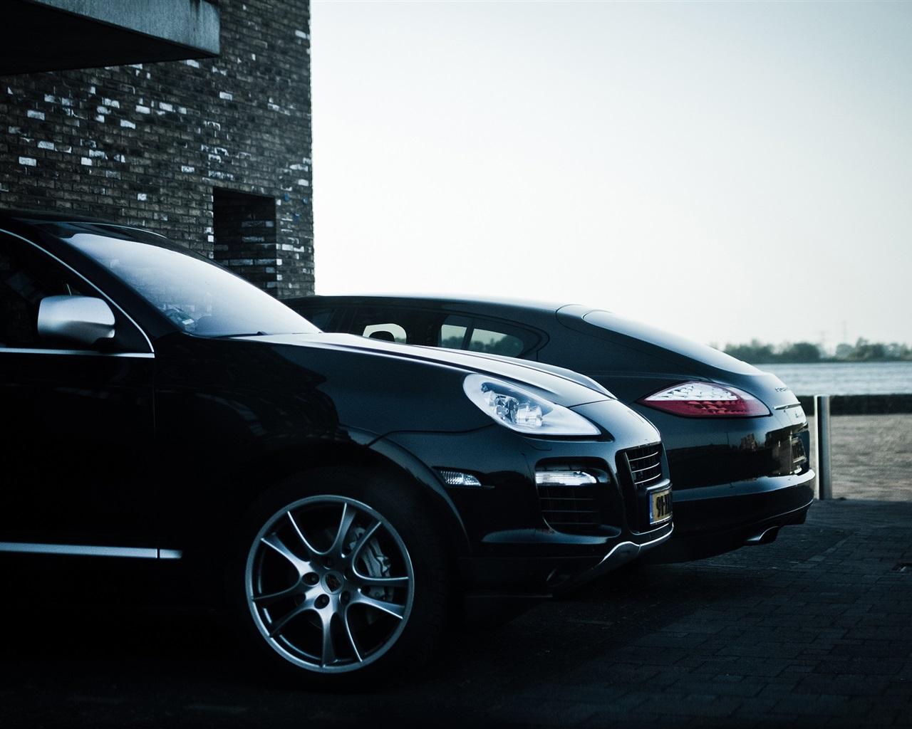 Fonds D'écran Porsche Cayenne Panamera Voiture De SUV Noir