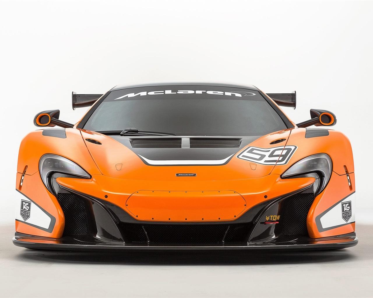 2015 McLaren 650S GT3 orange supercar front view Wallpaper   1280x1024 ...