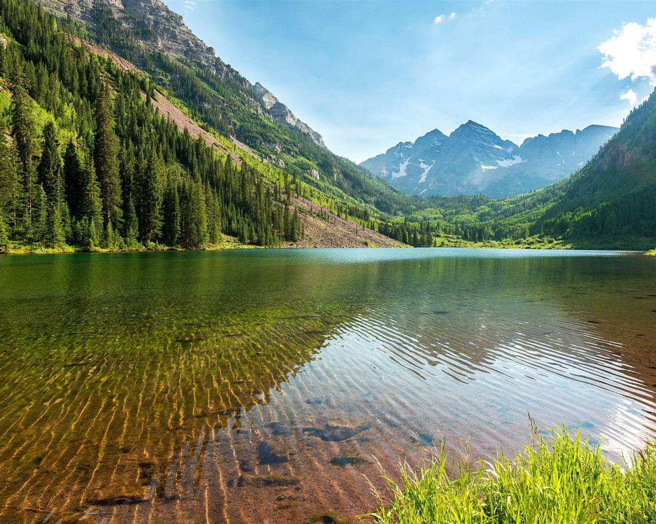 mountains sky lake reflection-#31